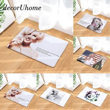 Autumn Fall welcome door mat doormat decorUhome Retro Welcome Waterproof  Marilyn Monroe Kitchen Rugs Bedroom Carpets Decorative Stair Mats Home Decor Crafts AT_76_7