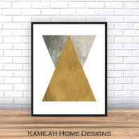 Geometric Print, Instant Download, Diamond print, Printable Art, Triangle Print, Geometric Art, Geometric Wall Art, Abstract Art Print