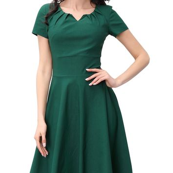 1950S Summer A-Line Casual Big Swing Dress