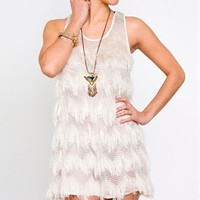 Whitney Eve Fringe Tank Top- Whitney Eve Dresses- $139