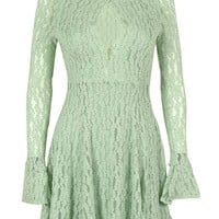 Free People Women's Lace Front Keyhole Dress