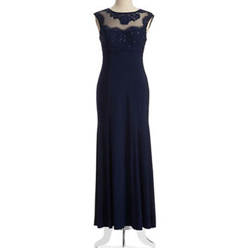 Xscape Illusion Neck Gown