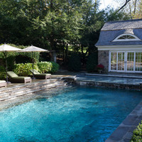 Steps leading into the Pool - Traditional - Pool - new york - by Fairfield House & Garden Co
