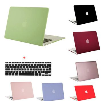 MOSISO Clear Matte Plastic Hard Case Cover for Macbook Air 13 Laptop Shell Cover for Mac book Pro 13 Retina 13.3+Keyboard Film