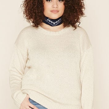 Plus Size Crew Neck Sweater