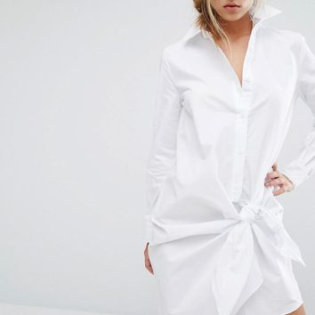 Parallel Lines | Parallel Lines Shirt Dress With Knotted Skirt at ASOS
