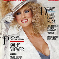 "Vintage Playboy Magazine - June 1986 - ""Playmate of the Year Kathy Shower!"" - Centerfold Rebecca Ferratti - Linda Evans - GREAT Articles"