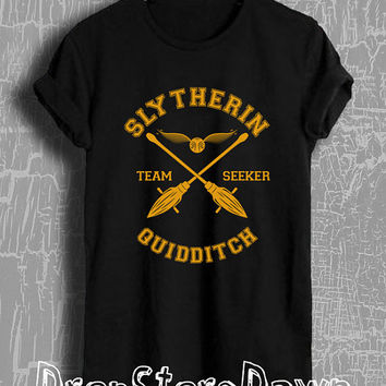 Harry Potter Shirt Slytherin Quidditch Tshirt Unisex Size T-Shirt