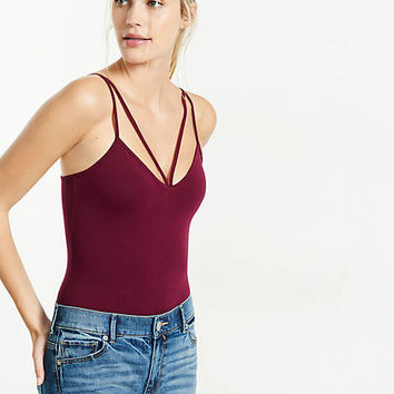 express one eleven strap-front cami bodysuit
