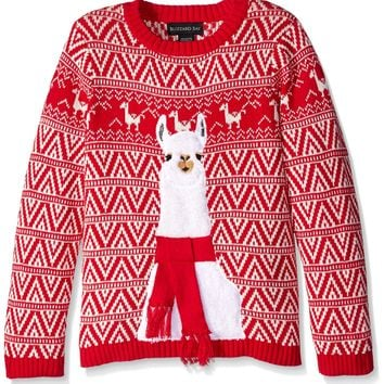 Blizzard Bay Big Boys' Llama Xmas Sweater
