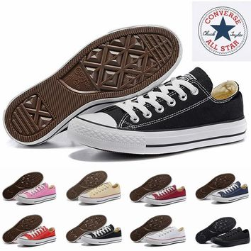 2017 Converse Chuck TayLor Core Casual Shoes Low Cut Classic Black White Red Canvas Shoes Women Mens Converses Skateboard Sneakers
