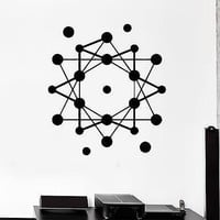 Wall Stickers Atom Science School Geometric Modern Style Vinyl Decal Unique Gift (ig1475)