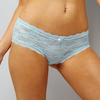 Mint Green Lace Short Briefs