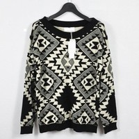Triangle Print Sweater from Seek Vintage