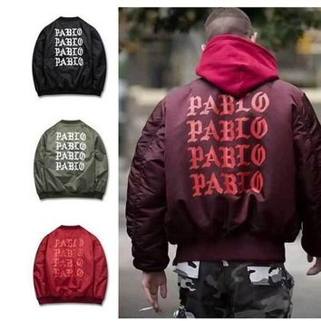 Kanye West Ma1 Bomber Jackets Men Thick Coats Kanye West Bomber Jacket Men Windbreaker Jackets Brand
