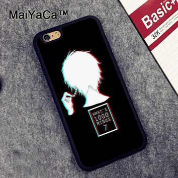 MaiYaCa Tokyo ghoul Anime Printed Soft Rubber Mobile Phone Cases Accessories For iPhone 6 6S Plus 7 7 Plus 5 5S SE Cover Shell