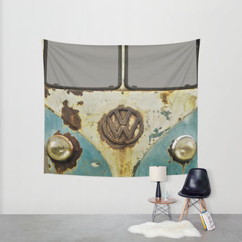VW Rusty Wall Tapestry by Alice Gosling