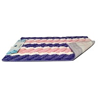 Tache Super Absorbent Purple and Pink Striped Microfiber Wild Flower Floor Mats / Rugs