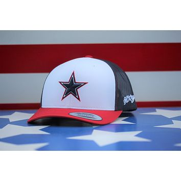"""Hooey """"DALLAS COWBOYS"""" RED/WHITE/BLUE 7001T-WHNV"""