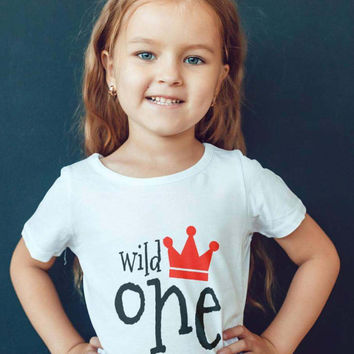 Toddler T-shirt- Where the Wild Things Are - One Year Old Shirt  Wild One