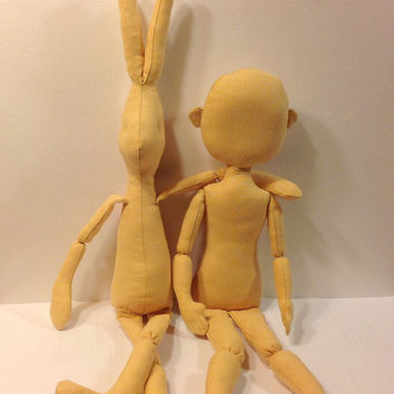 Blank Cloth doll body Doll BODIES for crafting Stuffed Doll Body cloth doll body art doll crafted doll  bunny body doll body dollmaking