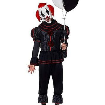 Adult Horror Clown Costume - Spirithalloween.com