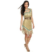 Disney Princess Pocahontas Deluxe Costume - Adult (Brown/Beige)