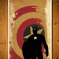 Retro Avengers Movie Poster -  Captain America