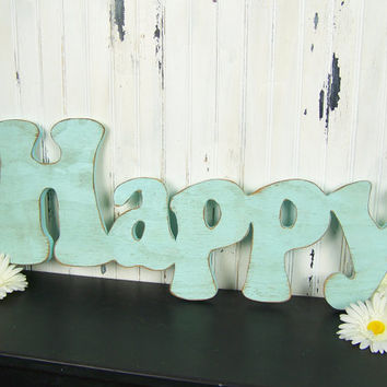 Happy Sign Happy Wall Decor Boho Decor Be Happy Wedding Sign Happy Nursery Wall Art Happy Photo Prop Teen Room Decor Hippie Decor Happy Art