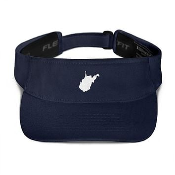 West Virginia Embroidered State Shape Visor