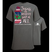 Southern Couture Preppy Christmas Greatest Gift Jesus Holiday T-Shirt