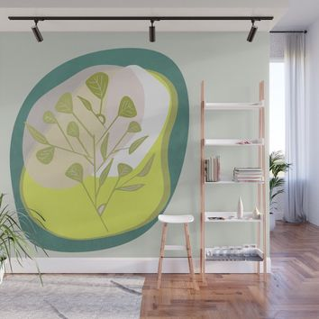Modern floral forms 03 Wall Mural by naturalcolors