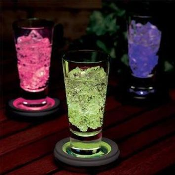 LED Colour Changing Drink Coaster