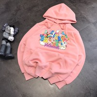 """Vetements"" Casual Fashion Letter Pattern Cute Little Pony Long Sleeve Hooded Sweater Women Hoodie Tops"