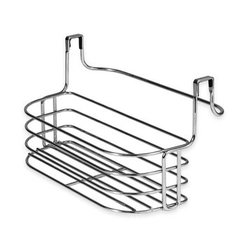 Spectrum Duo Over the Cabinet Towel Bar and Basket