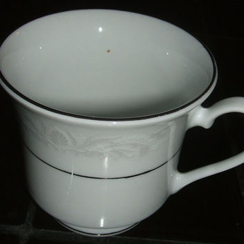 Crown Ming Fine China Cup Royal Palm Jian Shiang Footed Teacup Coffee Mug Replacement Dinnerware