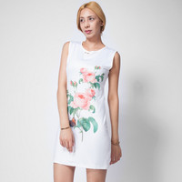 Floral Print Slim Homecoming Dress 11123