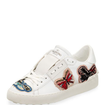 Valentino Garavani Open Butterfly-Embroidered Sneaker