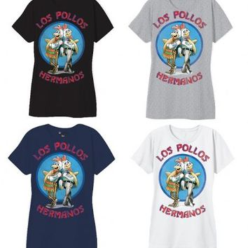 Breaking Bad Los Pollos Hermanos Logo Juniors T-Shirt