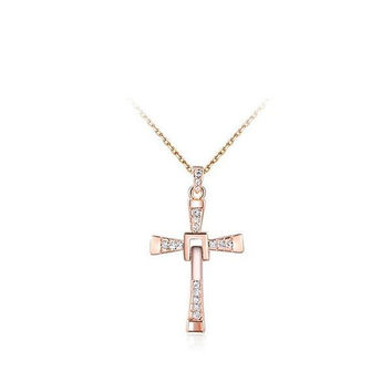 New Arrival Shiny Gift Stylish Cross Rack Jewelry Necklace [9281913284]