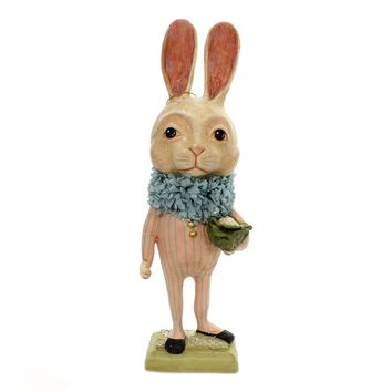 Easter TALL BUNNY WITH CAULIFLOWER Polyresin Debra Schoch Hh8848