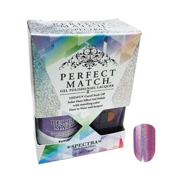 LeChat Perfect Match Spectra Collection Gel Polish + Nail Lacquer Futuristic SPMS03
