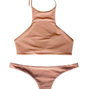S.I.E SWIM | Kendall Top x Madison Bottom Bikini Separates (Nude Rib)