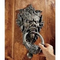 SheilaShrubs.com: Vecchio Greenman Authentic Iron Door Knocker SP9282 by Design Toscano: Door Knockers
