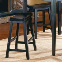 HomeHills 225302BK-18[2PC] Black Sand Through 18-Inch Stool, Set of Two