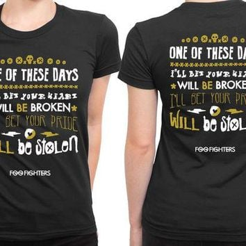 DCCKL83 Foo Fighter Quote 2 Sided Womens T Shirt