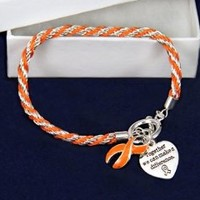 Rope Bracelet - Orange Ribbon (RETAIL)