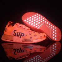 PEAPGE2 Beauty Ticks Lv X Supreme Nmd Fashion Sneakers Running Sports Shoes Red G-csxy
