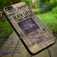 Harry Potter Daily Prophet Newspaper iPhone 6s 6 6s+ 5c 5s Cases Samsung Galaxy s5 s6 Edge+ NOTE 5 4 3 #movie #HarryPotter dt