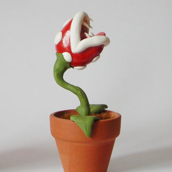 Super Mario Piranha Plant in pot (choose your design: normal, inky, frost, etc.)
